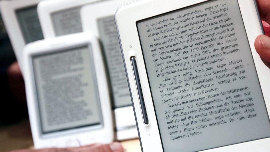 """E-Book-Reader bei der Buchmesse: """"Schaffen Rechtssicherheit"""""""