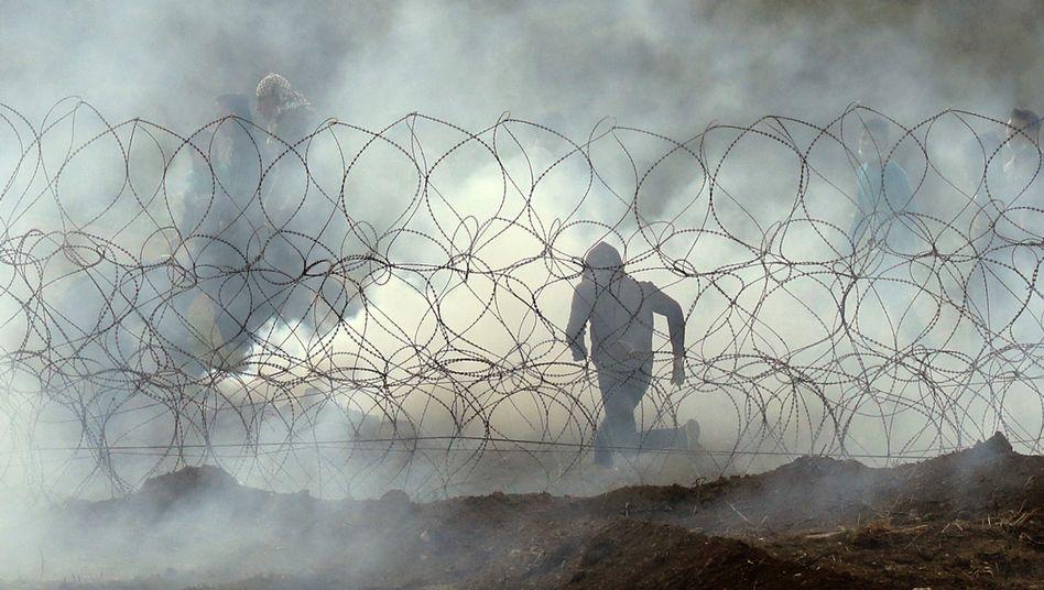 Grenzzaun zwischen Israel und Gaza