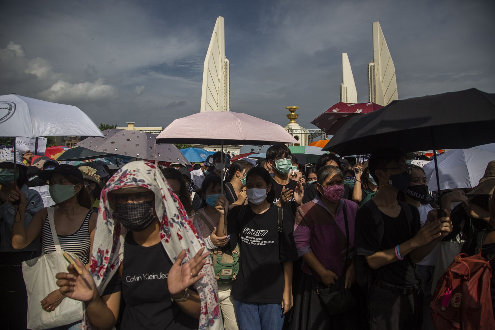 Anti-Government Protests Continue In Bangkok Amid The Coronavirus Pandemic