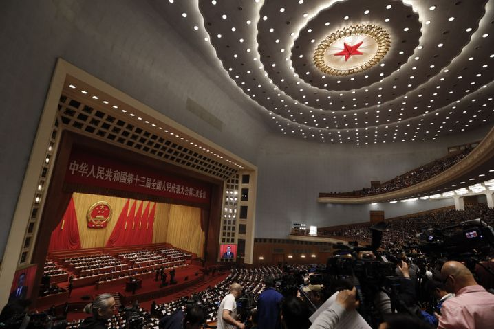 Blick in die Große Halle des Volkes in Peking