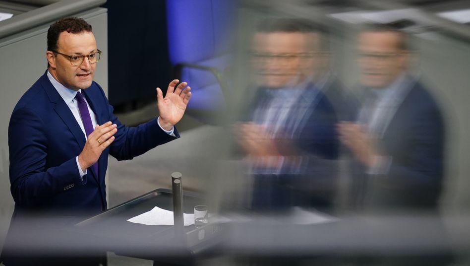 Gesundheitsminister Jens Spahn (CDU) im September im Bundestag