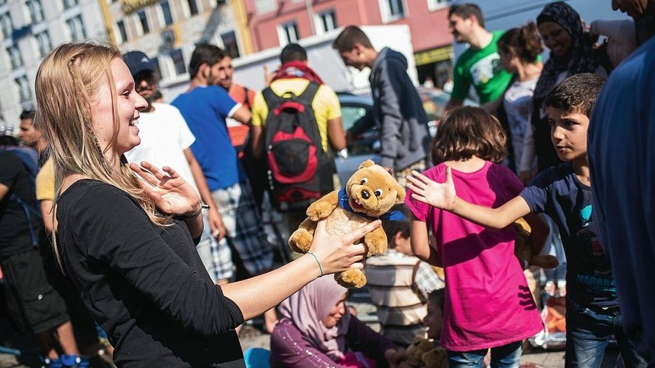Helferin, Flüchtlinge in München 2015