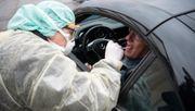 Erste Corona-Drive-in-Teststation in Süddeutschland