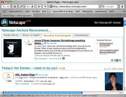 Netscape Beta: Digg mit Erziehungsberechtigten?