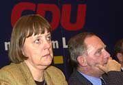 Druck aus der zweiten Reihe: Angela Merkel, Wolfgang Schäuble