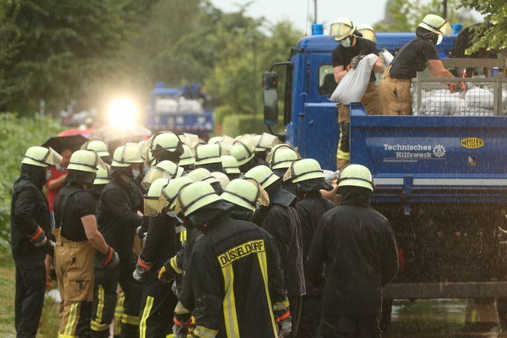 Feuerwehreinsatz in Düsseldorf