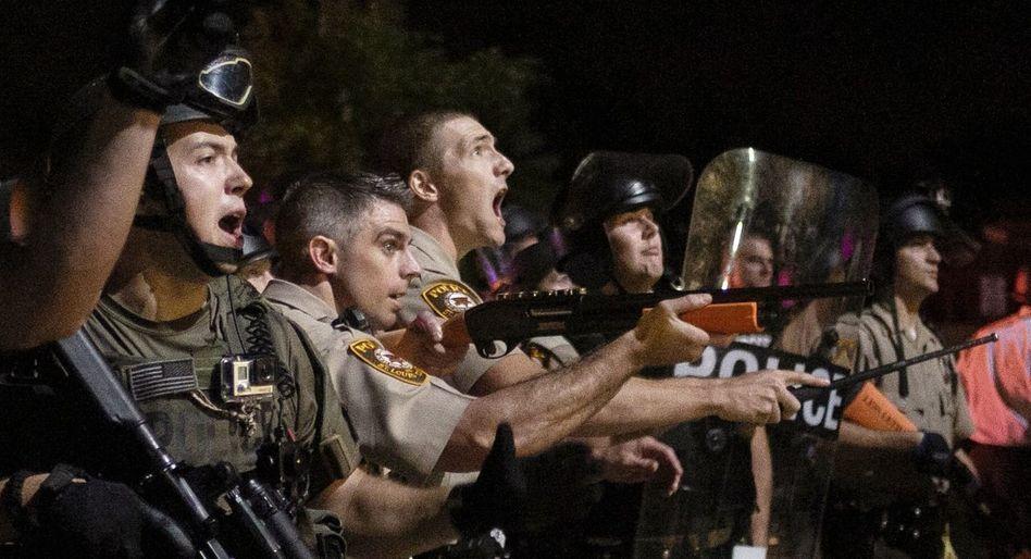 Sicherheitskräfte in Ferguson