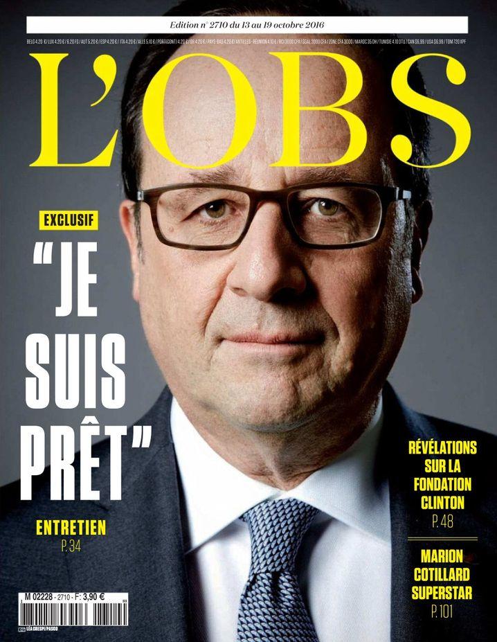 """Hollande auf dem Titel vom """"Nouvel Observateur"""""""