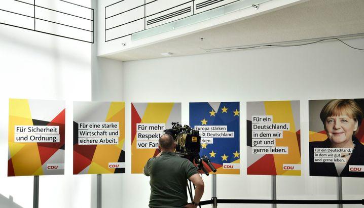 Wahlplakate der CDU