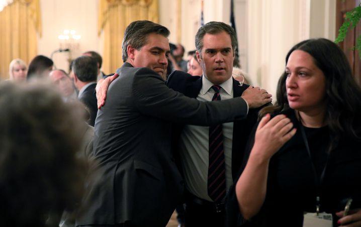 Jim Acosta (l.) mit NBC-Kollege Peter Alexander
