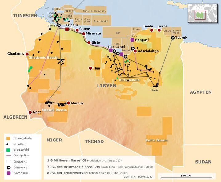 Ölfelder in Libyen: Konzerne hoffen auf Wiederaufbau