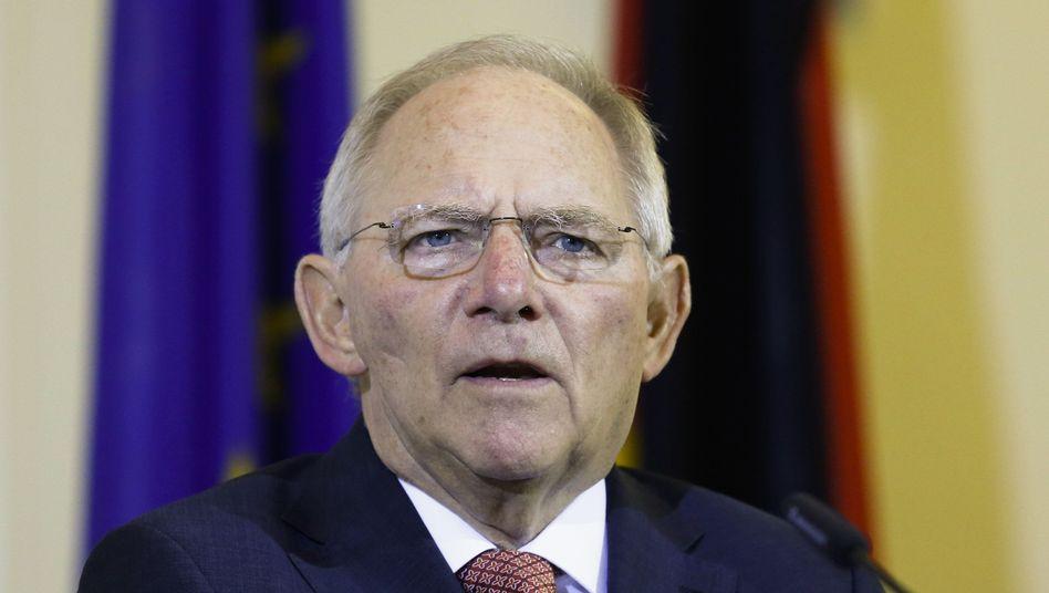 """Finanzminister Schäuble: """"Nicht andere zu Sündenböcken machen"""""""