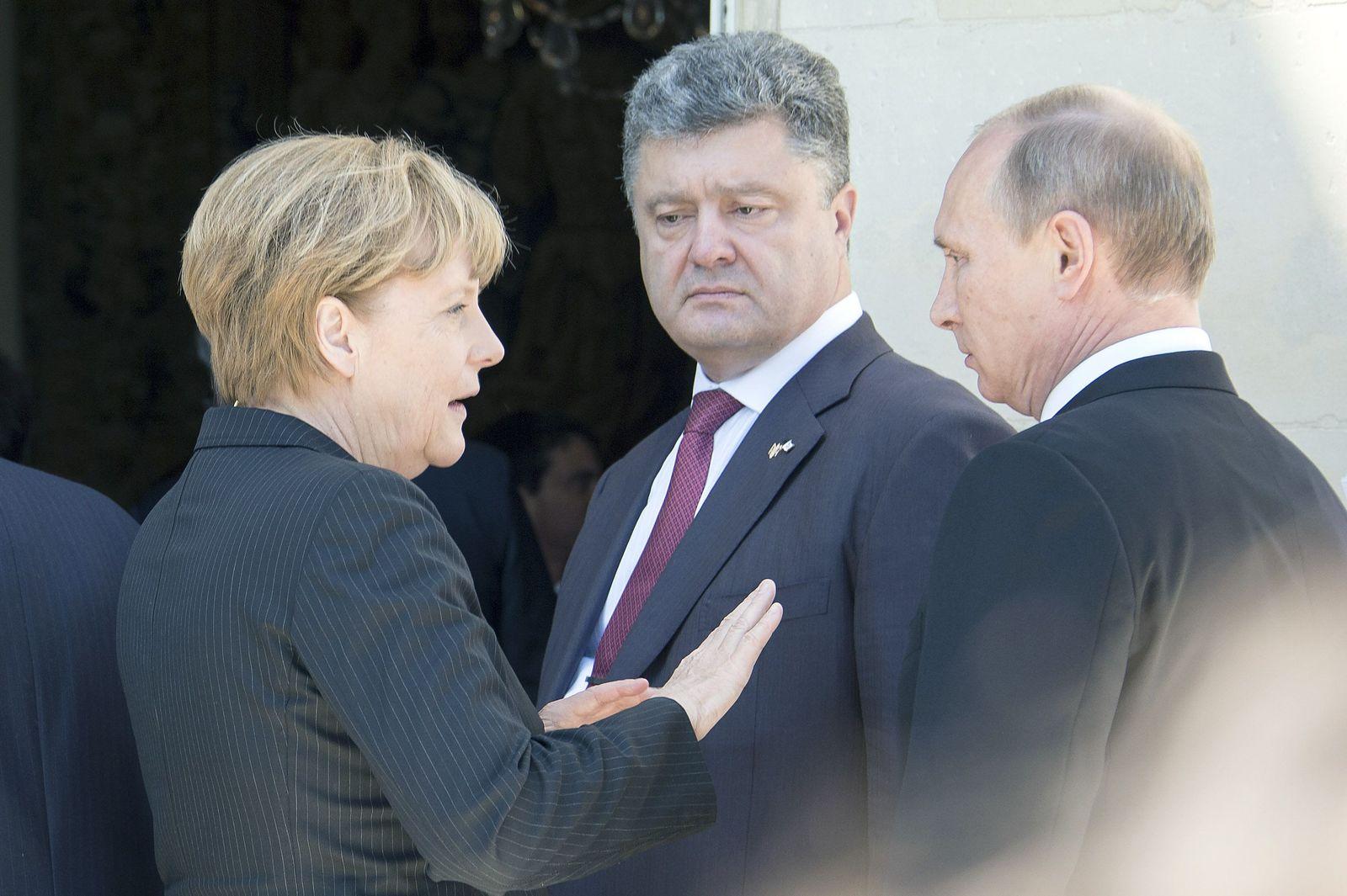 Merkel / Putin / Poroschenko