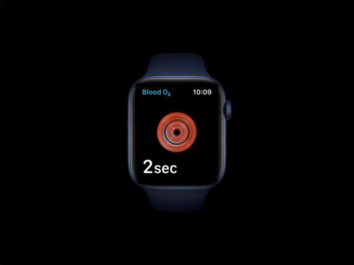 Messung des Blutsauerstoffs auf einer Apple Watch