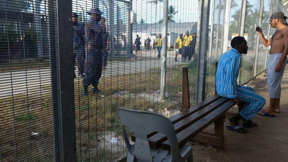 Flüchtlingslager auf der Insel Manus Ende 2017