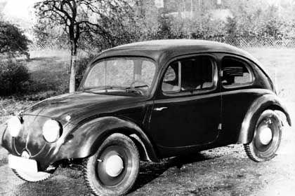 """Der Reichsverband der Automobilindustrie gab bei Ferdinand Porsche die Entwicklung eines """"Volkswagen"""" in Auftrag: Der VW 3, ein Prototyp aus dem Jahr 1935/36"""