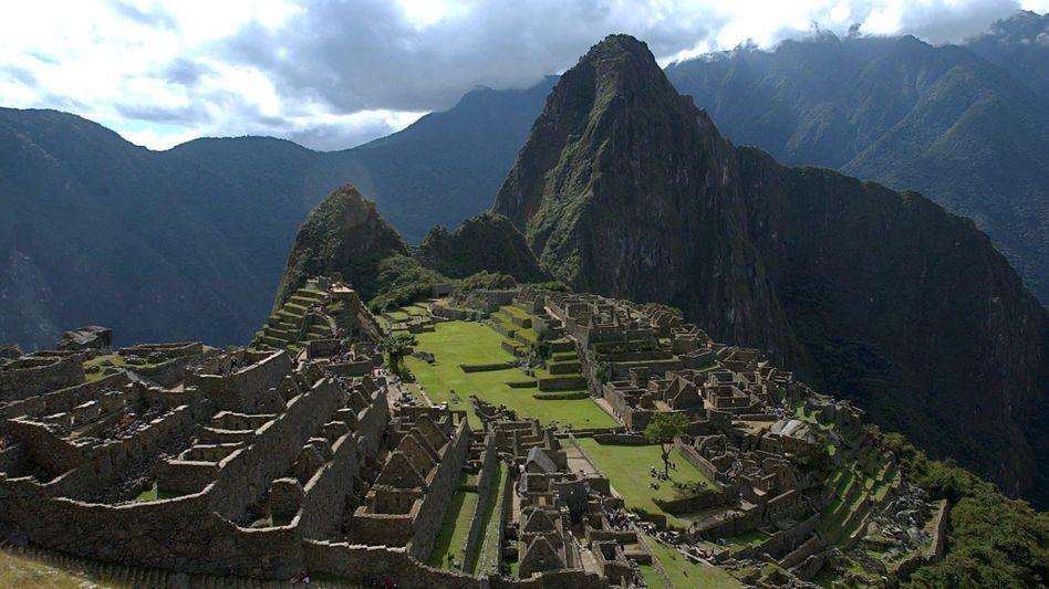 Machu Picchu in den Anden Perus