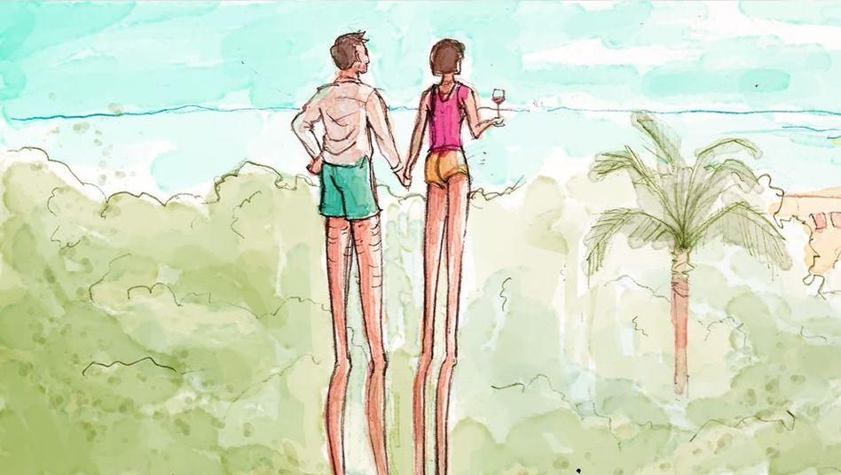 Meerblick mit Hindernissen: Je mehr Kinder, desto weniger Exotik im Urlaub