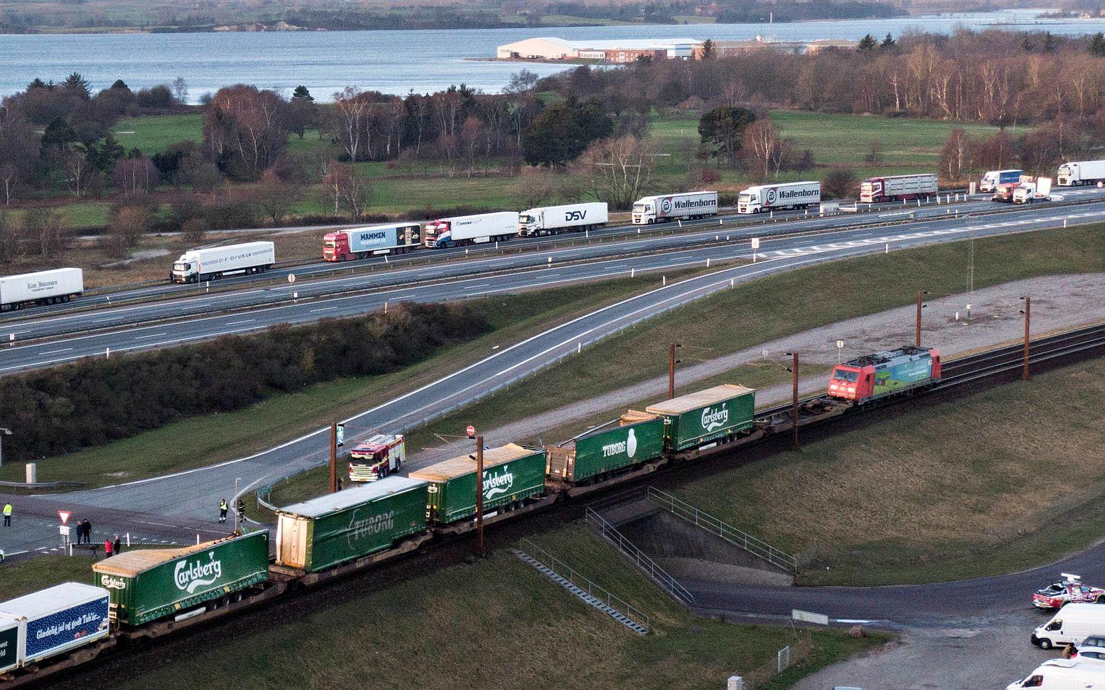 Dänemark - Zugunglück