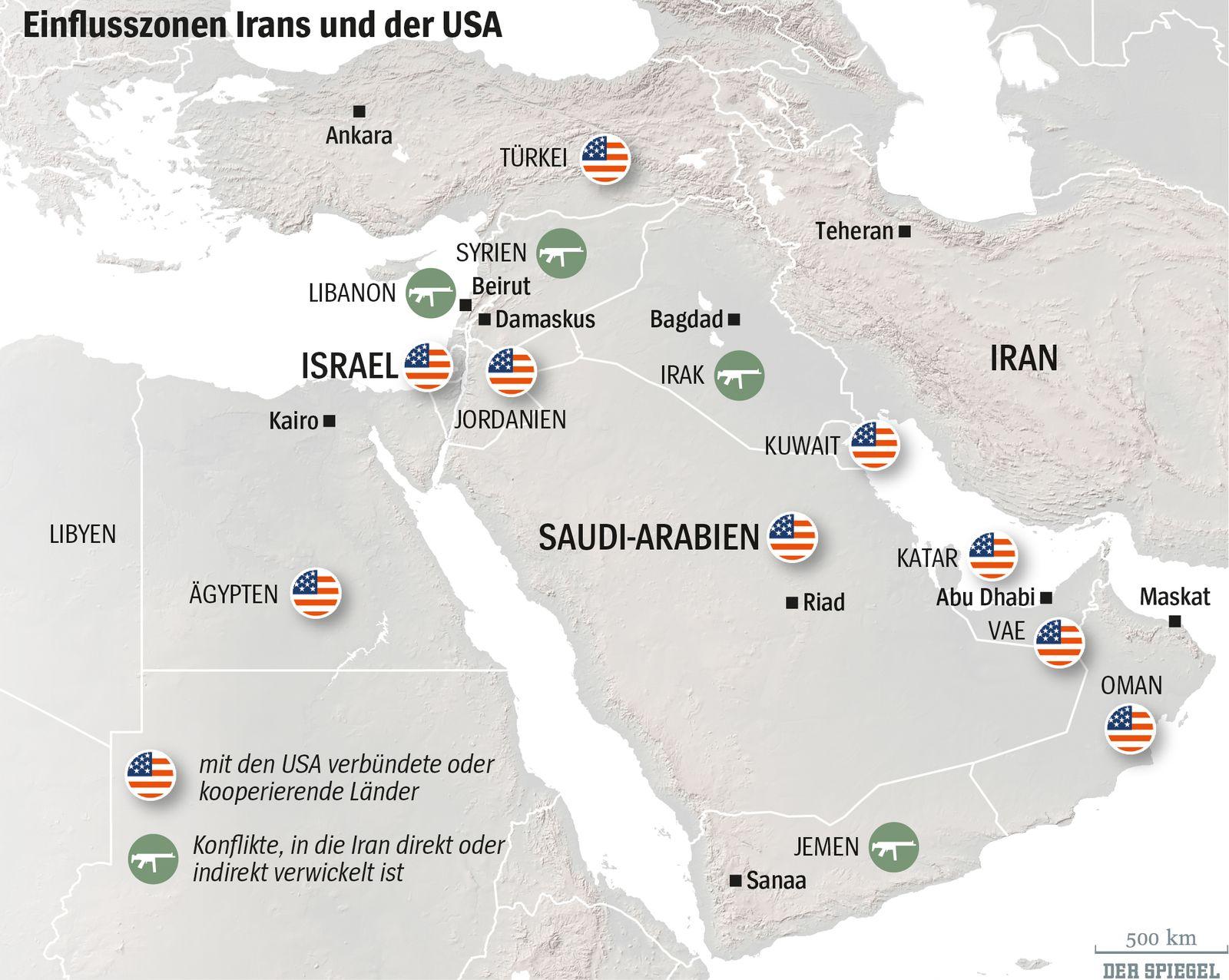 Nahost-Achsen Christoph Sydow - editierte Karte Iran-Konflikt, Ursprung DER SPIEGEL 14/2015 Seite 103 OHNE neue TEXTE