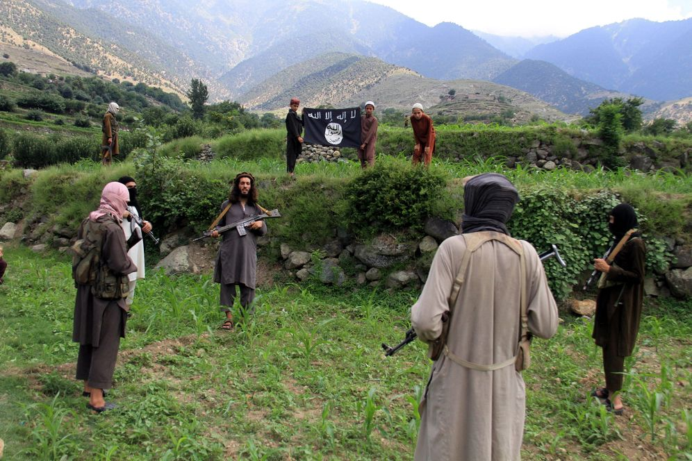 Islamic State fighters in Afghanistan in 2015