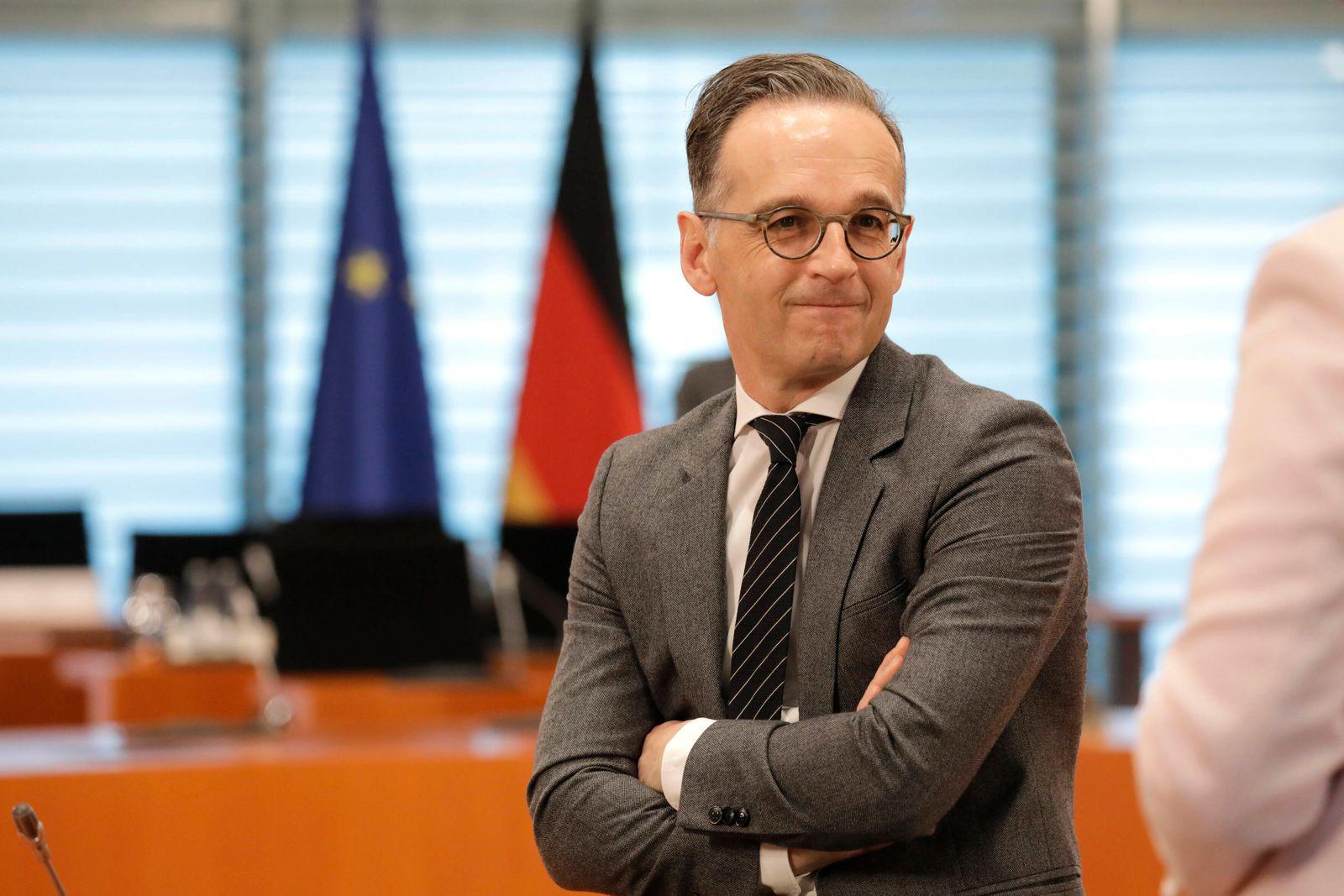 Heiko Maas, Bundesminister des Auswaertigen, SPD, Kabinettsitzung, DEU, Berlin, 20.05.2020 *** Heiko Maas, Federal Minis