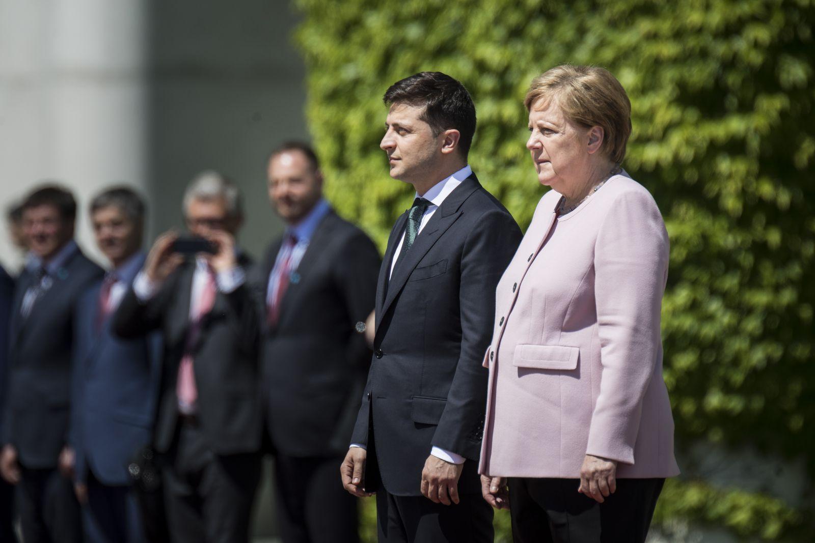 German Chancellor Angela Merkel Meets Wolodymyr Selenskyj