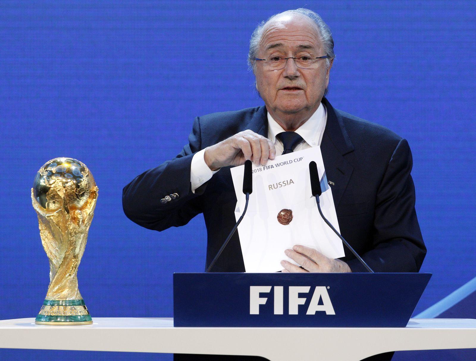 FIFA WM-Auslosung für 2018 und 2022/ Russland und Katar/ 2010/ Sepp Blatter