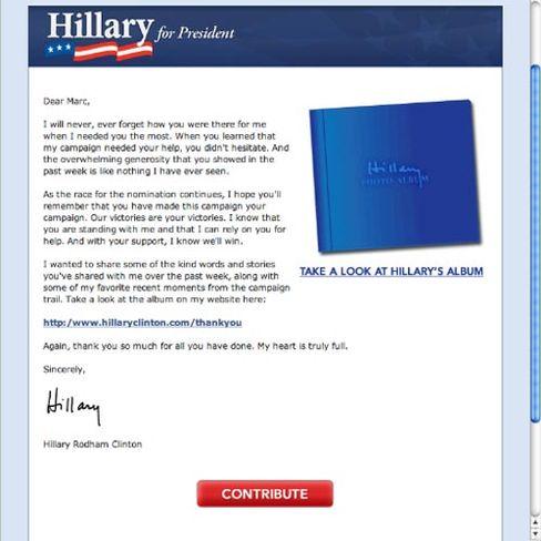 E-Mail von Hillary Clinton