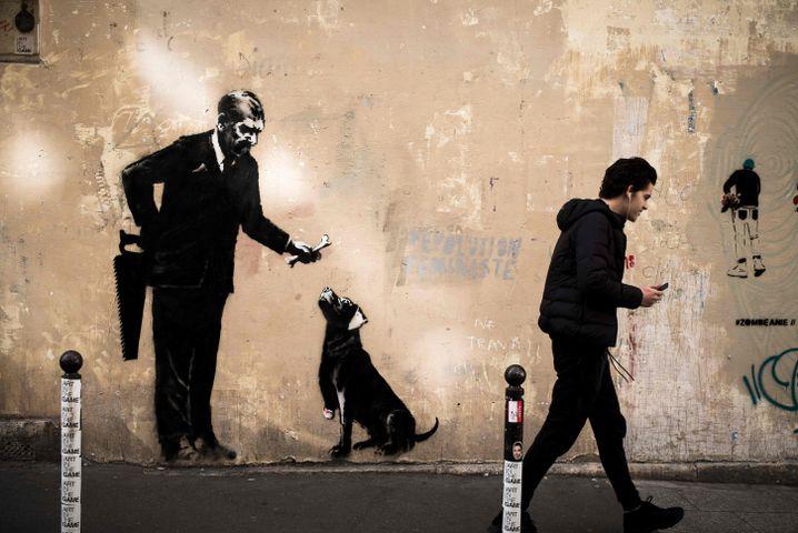 Street-Art in der Nähe der Universität Sorbonne in Paris