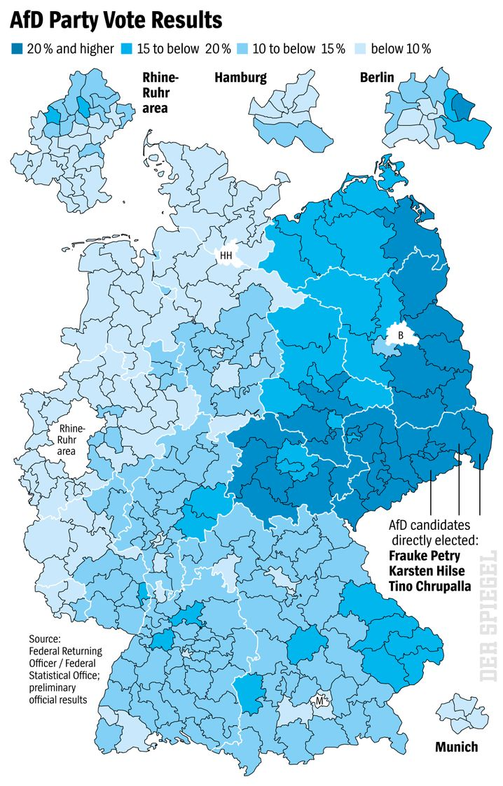 Graphic: AfD party vote results
