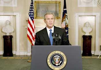 Appell zum Durchhalten: George W. Bush