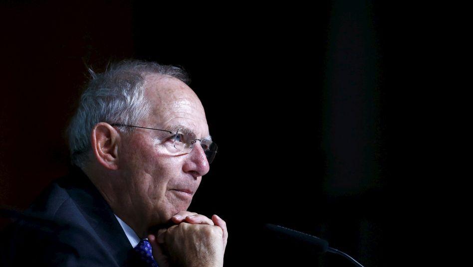 Bundesfinanzminister Schäuble (CDU): Bis zu 2,5 Milliarden Euro einsparen