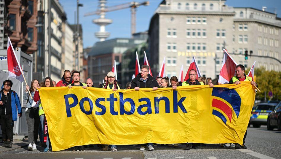 Postbank-Streik in Hamburg (Archiv)