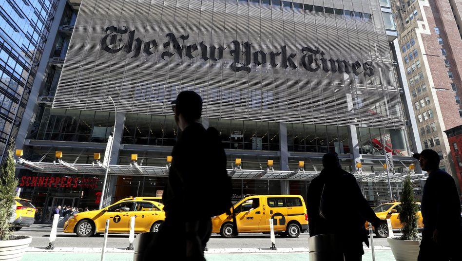 """Die """"New York Times"""" stand für Neutralität und Meinungspluralität - das scheint nicht mehr zu funktionieren"""