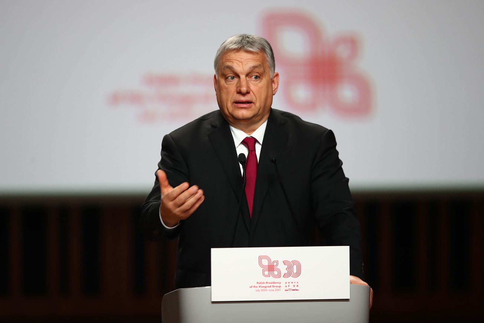 Viktor Orban, Krakow, Poland - 17 Feb 2021