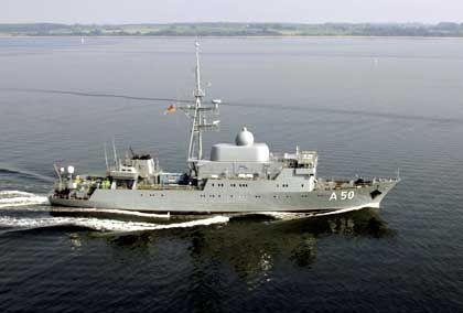 """Flottendienstboot """"Alster"""" (im August): Waren die Israelis """"not amused"""" über das deutsche Spionage-Schiff?"""