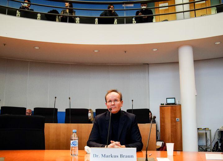 Ex-Wirecard-Chef Markus Braun vor dem Untersuchungsausschuss.