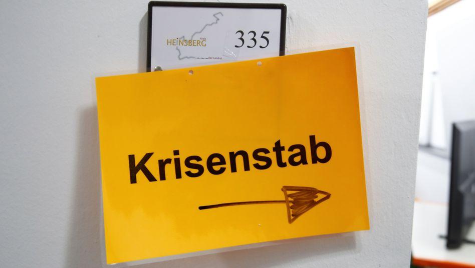 Krisenstab in Heinsberg (Foto von Ende Februar): Unterstützung durch die Bundeswehr erwünscht