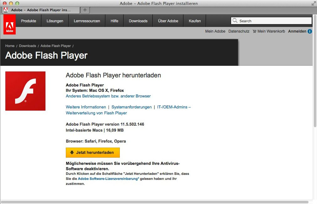 NUR ALS ZITAT Screenshot Adobe