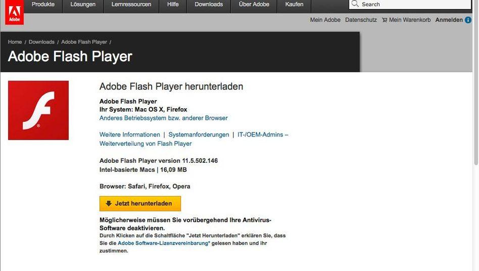 Aktuelle Version des Flash Players zum Herunterladen: BSI rät zur Eile