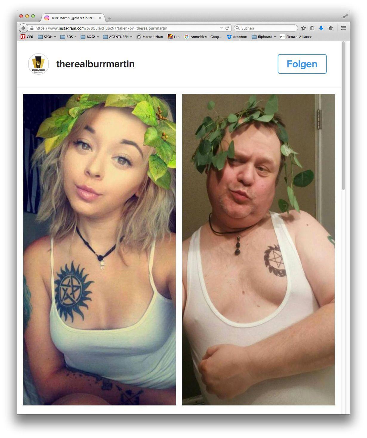 EINMALIGE VERWENDUNG SCREENSHOT NUR ALS ZITAT/ Instagram Copycat