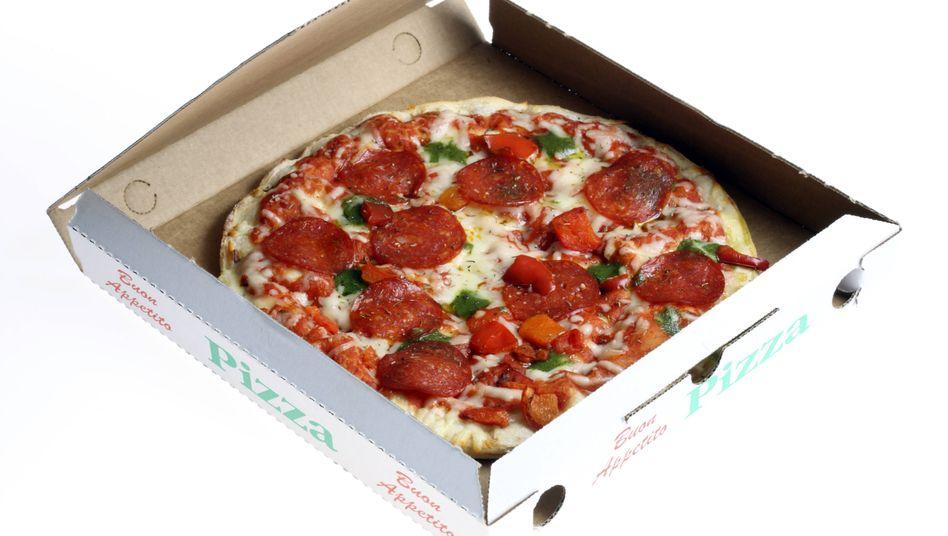 Der Konfliktauslöser: eine Pizza Salami (Symbolbild)