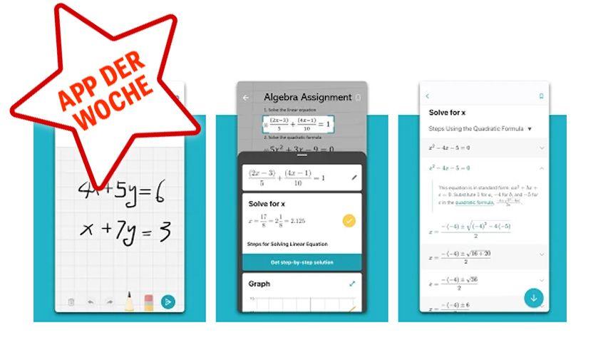 NUR ALS ZITAT Screenshot Netzwelt/ App der Woche KW51 mathsolver