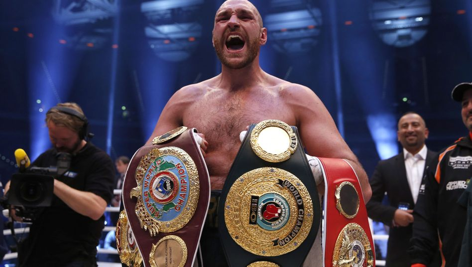 Fury nach seinem Sieg über Klitschko im April 2016