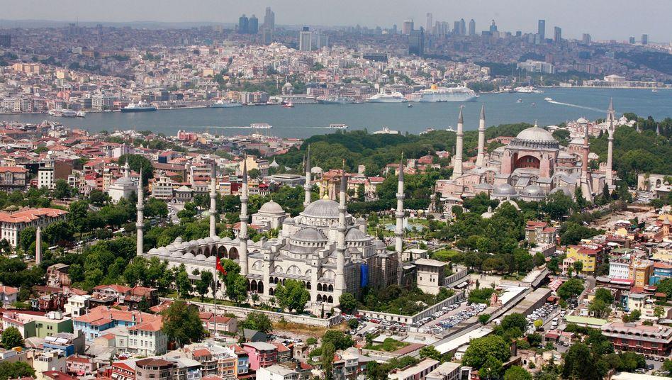 Istanbul mit Blauer Moschee und Hagia Sofia