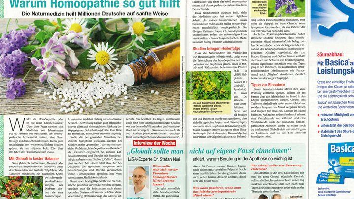 Homöopathie: So berichten die Zeitschriften