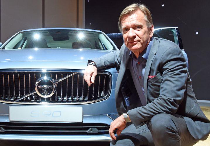 Volvo-Chef Samuelsson auf der Detroit-Autoshow 2016