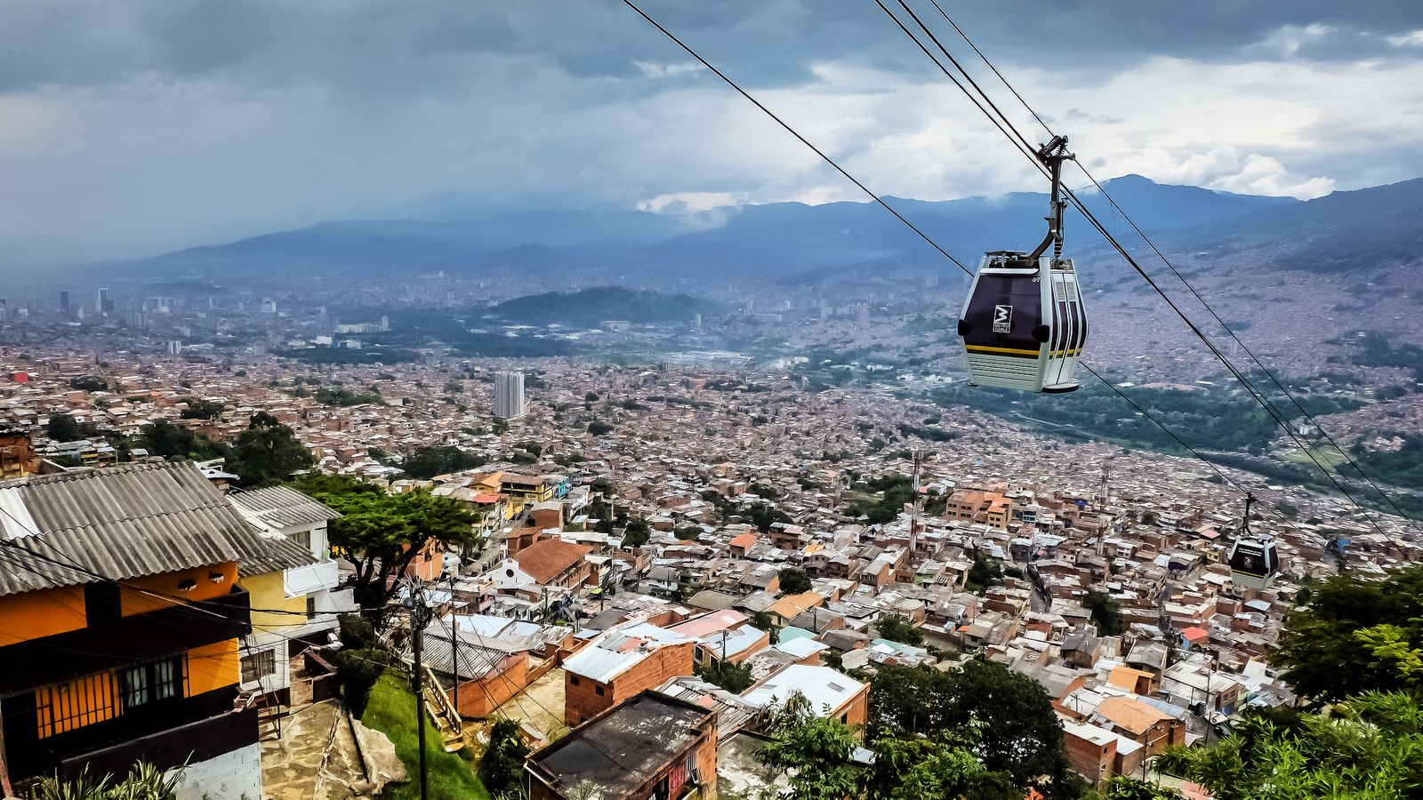 500px Photo ID: 110891847 - Metro lines at Medellin Colombia, not all of them overground, this one over air!