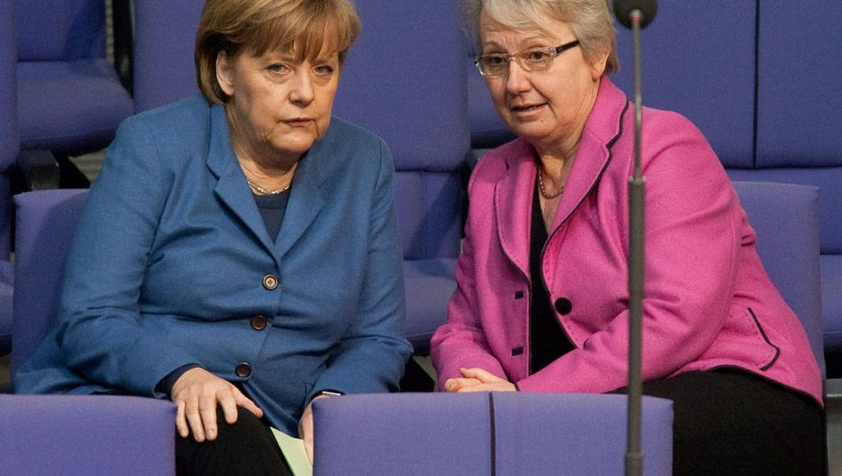 Education Minister Annette Schavan may be forced to resign from Chancellor Angela Merkel's cabinet.